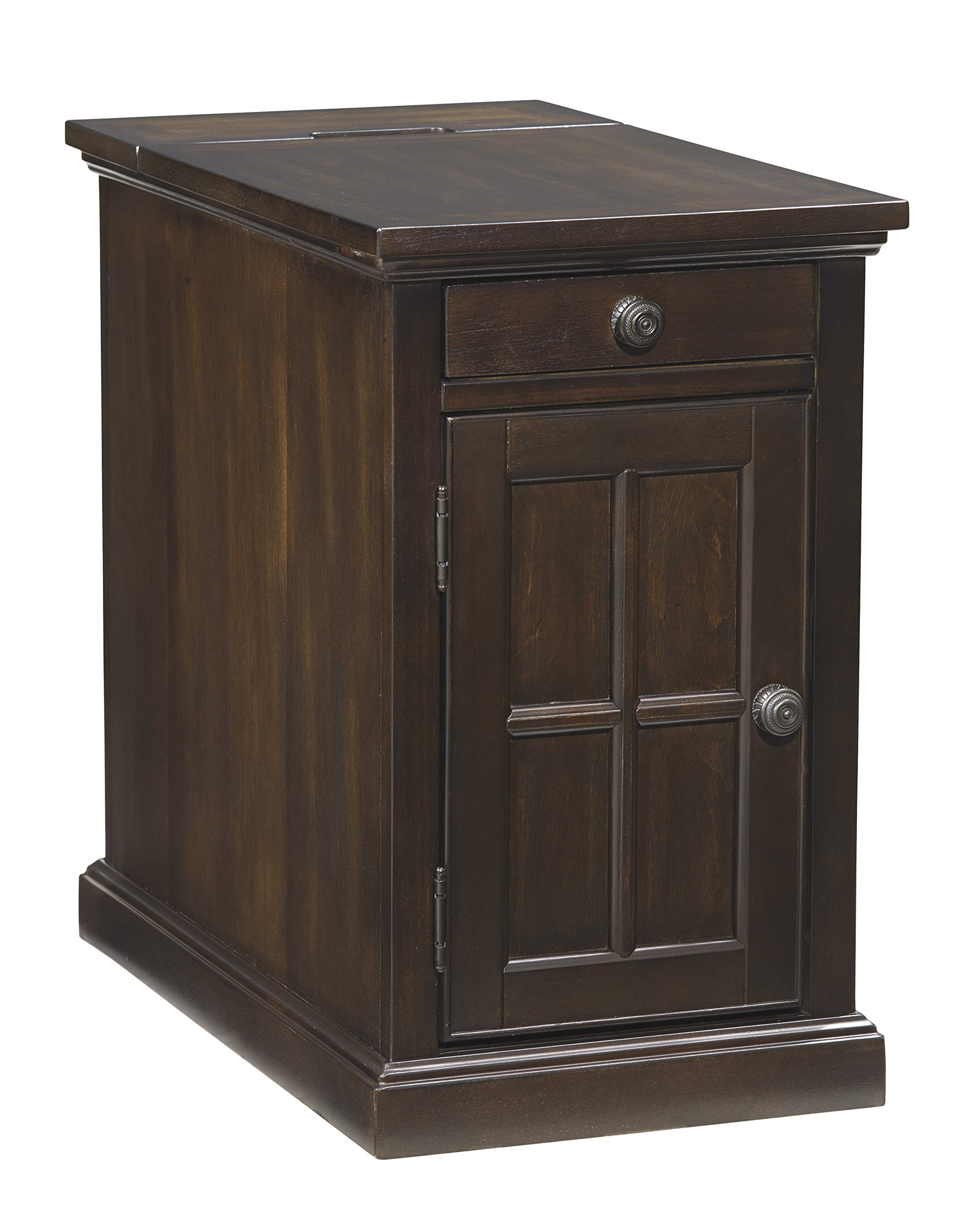 Ashley Furniture Signature Design - Laflorn Chair Side End Table - Rectangular - Dark Brown by Signature Design by Ashley (Image #1)
