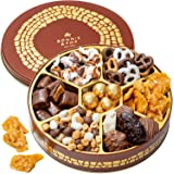 Christmas Holiday Nuts Gift Basket – Chocolate Gourmet Food Gifts Prime - Mothers & Fathers Day Chocolate Nut Gift Box…