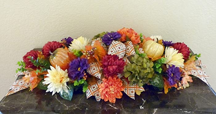 Amazon fall table centerpiece fall mantle centerpiece fall