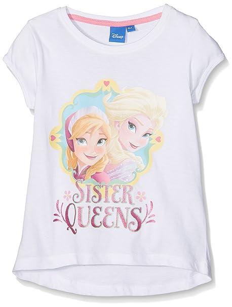 Sun City FR Frozen Sister Queens, Camiseta para Niñas, Blanco (White 15-