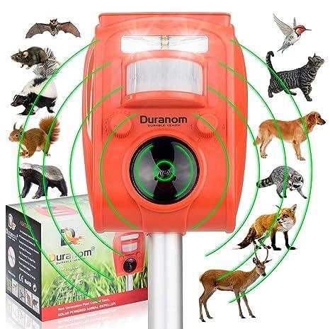 Solar Lamps Solar Ultrasonic Snake Repeller Sonic Animal Repeller Bird Control Device Double Led Lights Environmentally Friendly Device