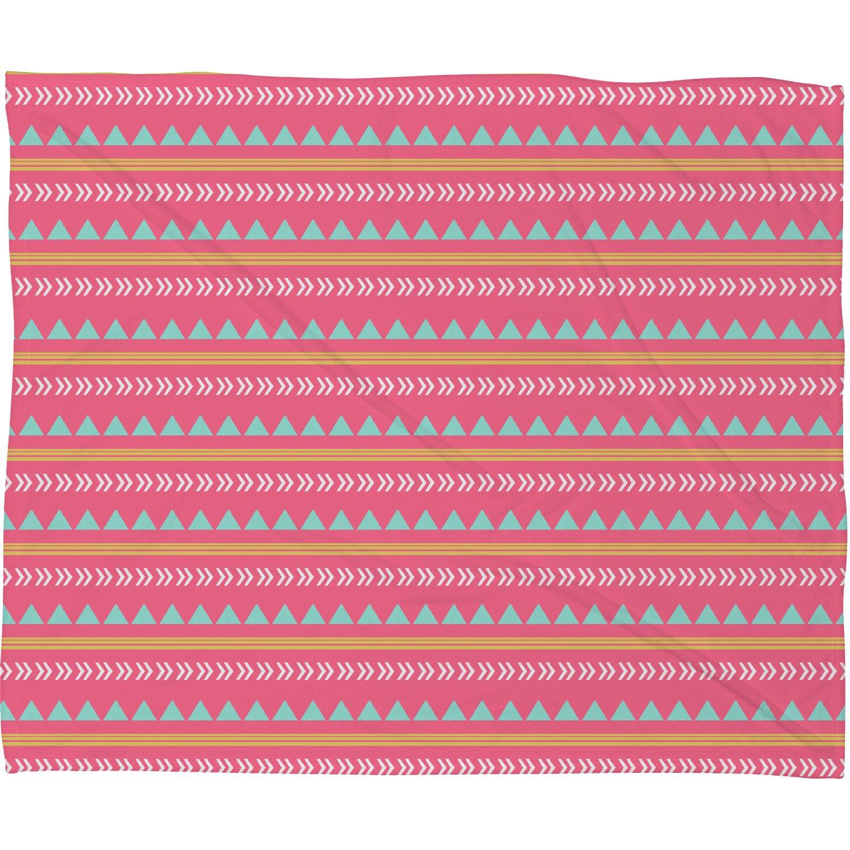 Deny Designs Native Aztec Plush Fleece Throw Blanket 50 X 60