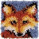 """Wonderart Mr. Fox Latch Hook Kit, 8"""" x 8"""""""