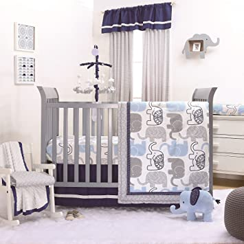 Elephants Crib Skirt