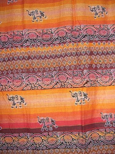 Tab Top Curtain-Door Panel-Little Elephants-Orange