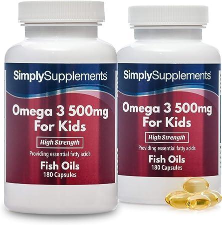 Omega 3 500mg para niños - ¡Bote para 1 año! - 360 comprimidos ...