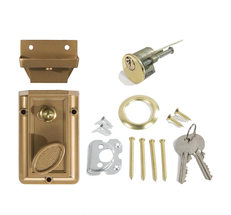 6 BI-15AB Antique Brass Large Stamped Cabinet Latch Vintage Skeleton Key Badge UNIQANTIQ HARDWARE SUPPLY Free Bonus