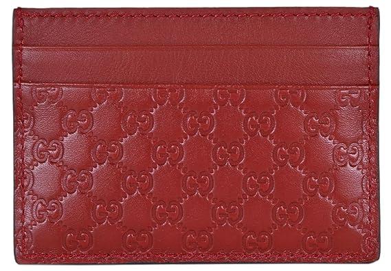9f33aefe74 Gucci Cuir Micro GG Guccissima Petite carte Coque (Rosso/rouge ...