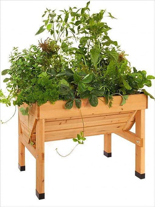 vegtrug (Madera Bancal/Planta trog, tamaño: L x B x H: 100 x 76 x ...