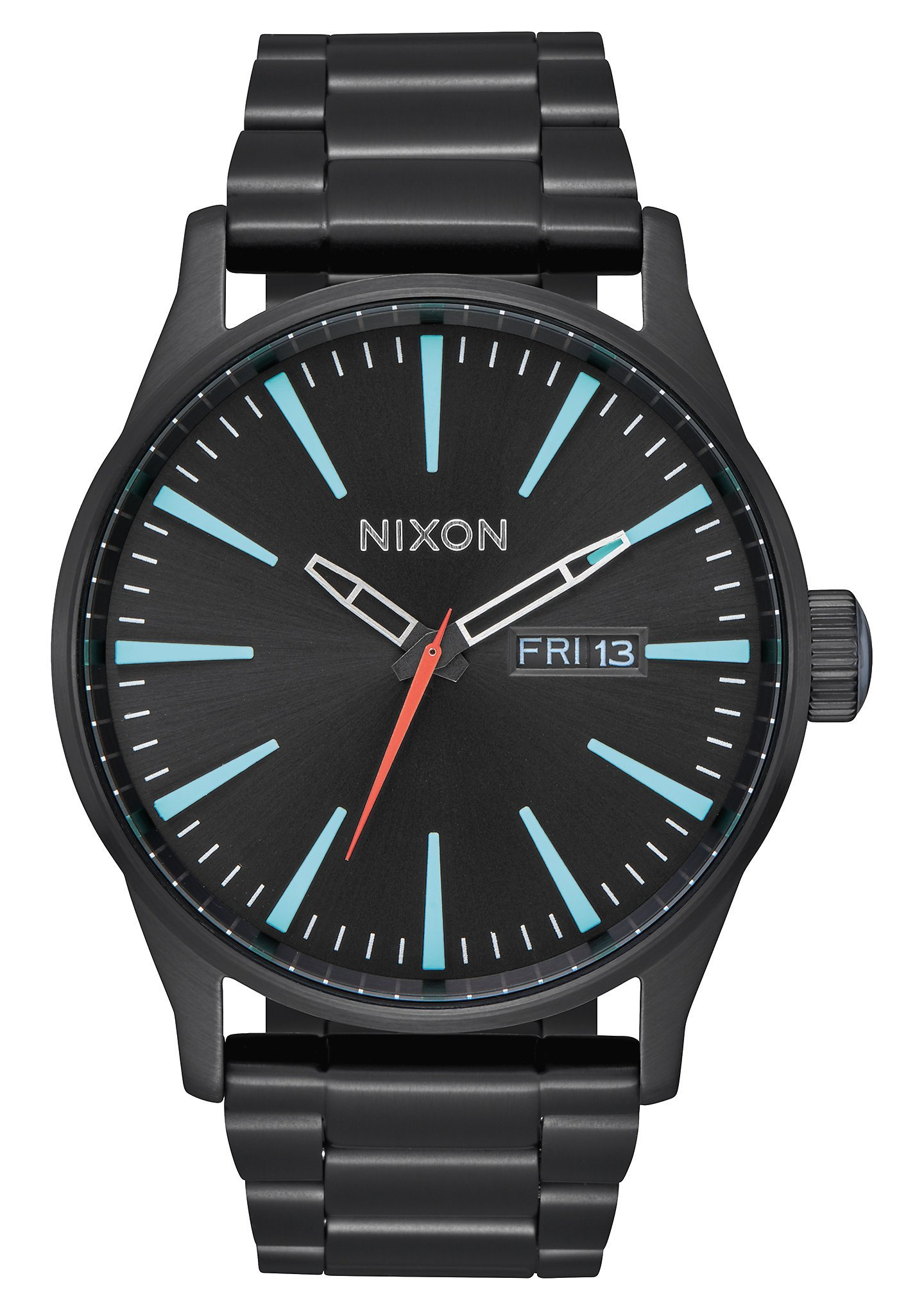 Nixon Unisex Sentry SS All Black/Silver/Lum One Size