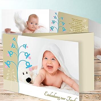 Einladungskarten Zur Taufe Basteln Schnullerbaum 15 Karten