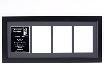 Amazoncom Creative Letter Art 4 Opening 5x7 Black Picture Frame