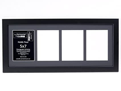 Amazon.com: Creative Letter Art - 4 Opening 5x7 Black Picture Frame ...