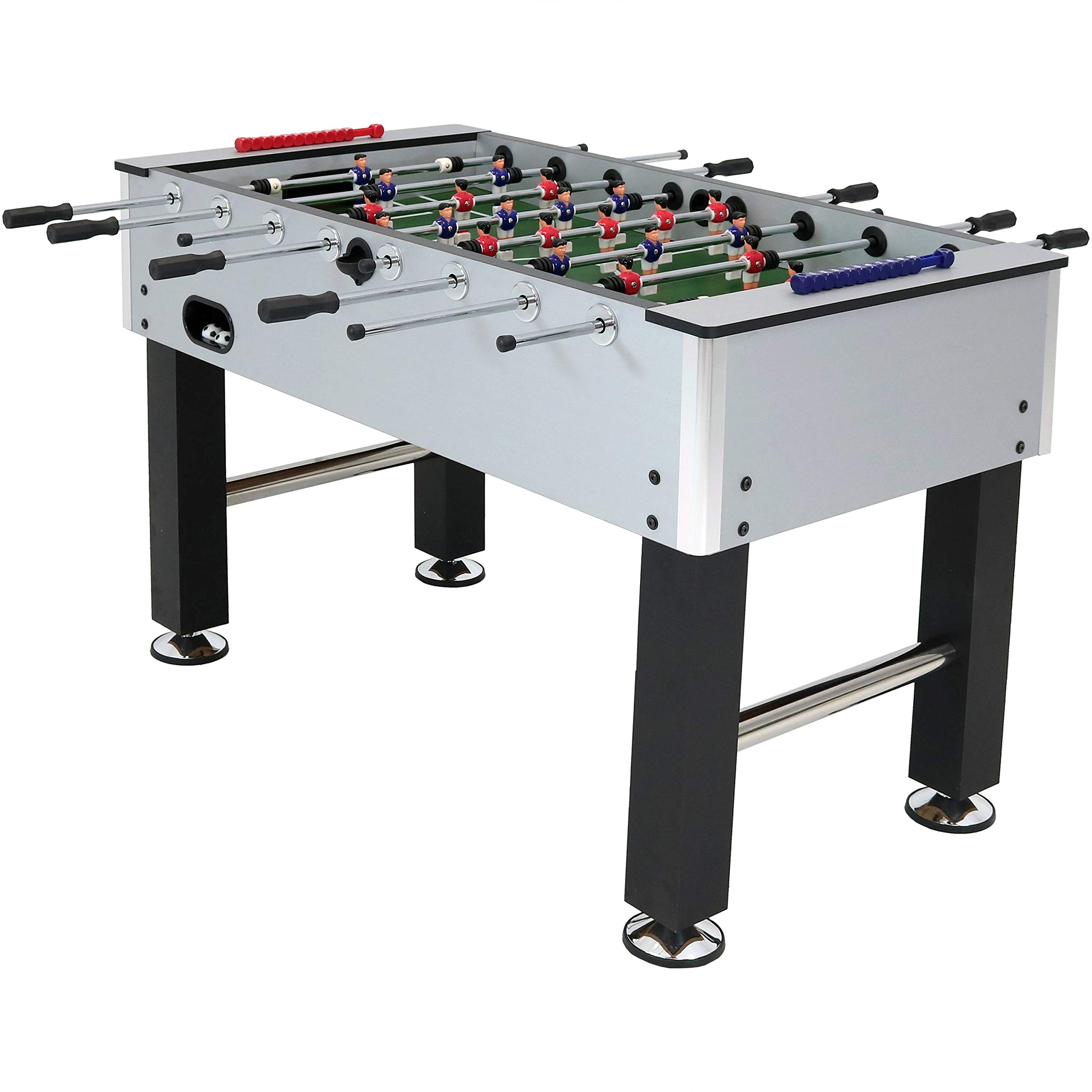 Sunnydaze Metallic Foosball Table, Sports Arcade Soccer for Game Room - 55-Inch by Sunnydaze Decor