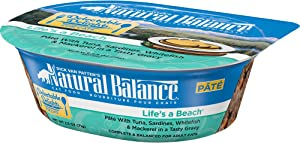 Natural Balance Delectable Delights Wet Cat Food Pate, Life's A Beach, 2.5 Ounce Cup (Pack of 12)
