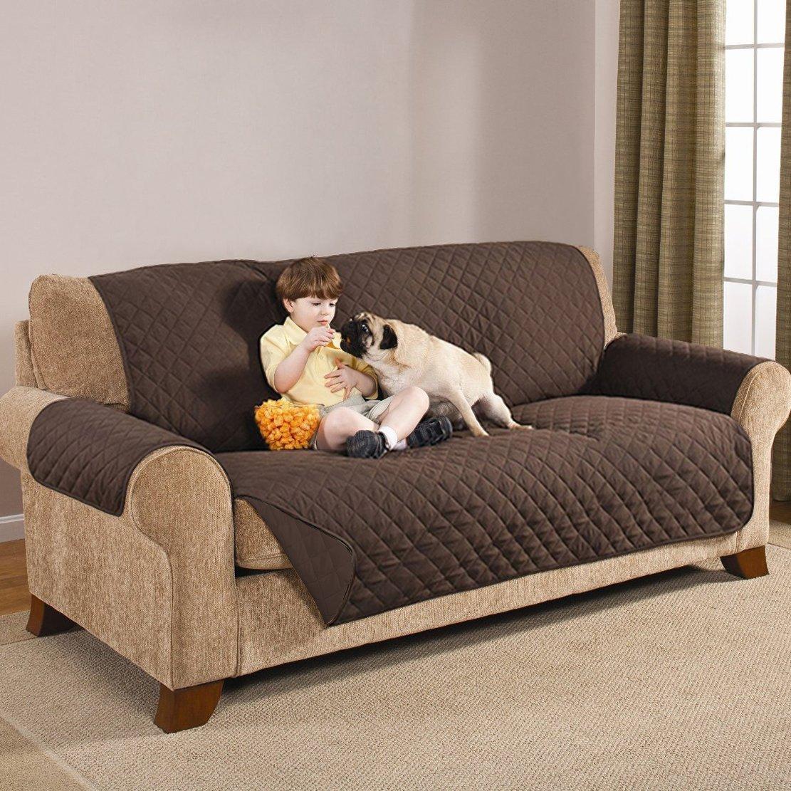 sumuya - Funda Protectora de sofá Reversible de 3 plazas ...