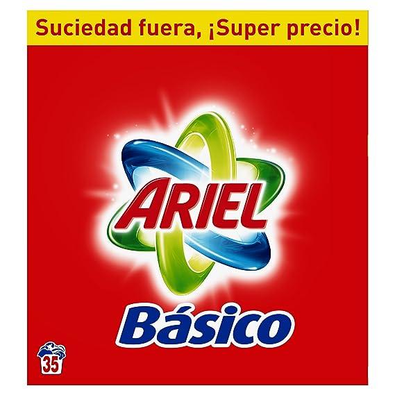 Ariel Básico Detergente en Polvo, 35 Lavados - 2,275 kg