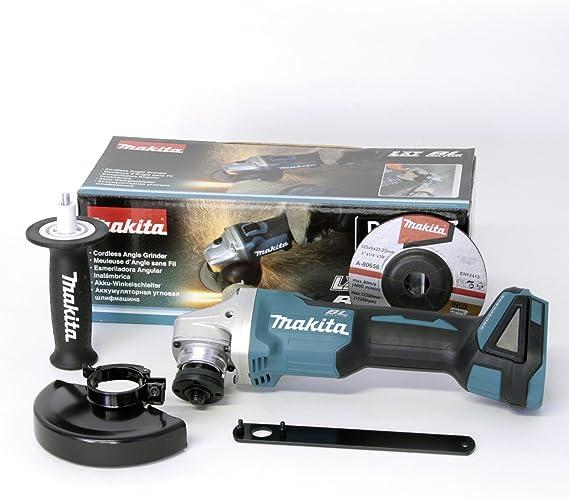 MAKITA DGA504Z DGA504Z-Miniamoladora 18V Litio 125mm BL, 0 W