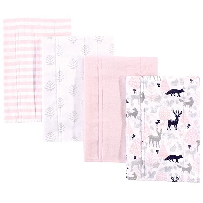 Luvable Friends Unisex Baby Flannel Burp Cloths