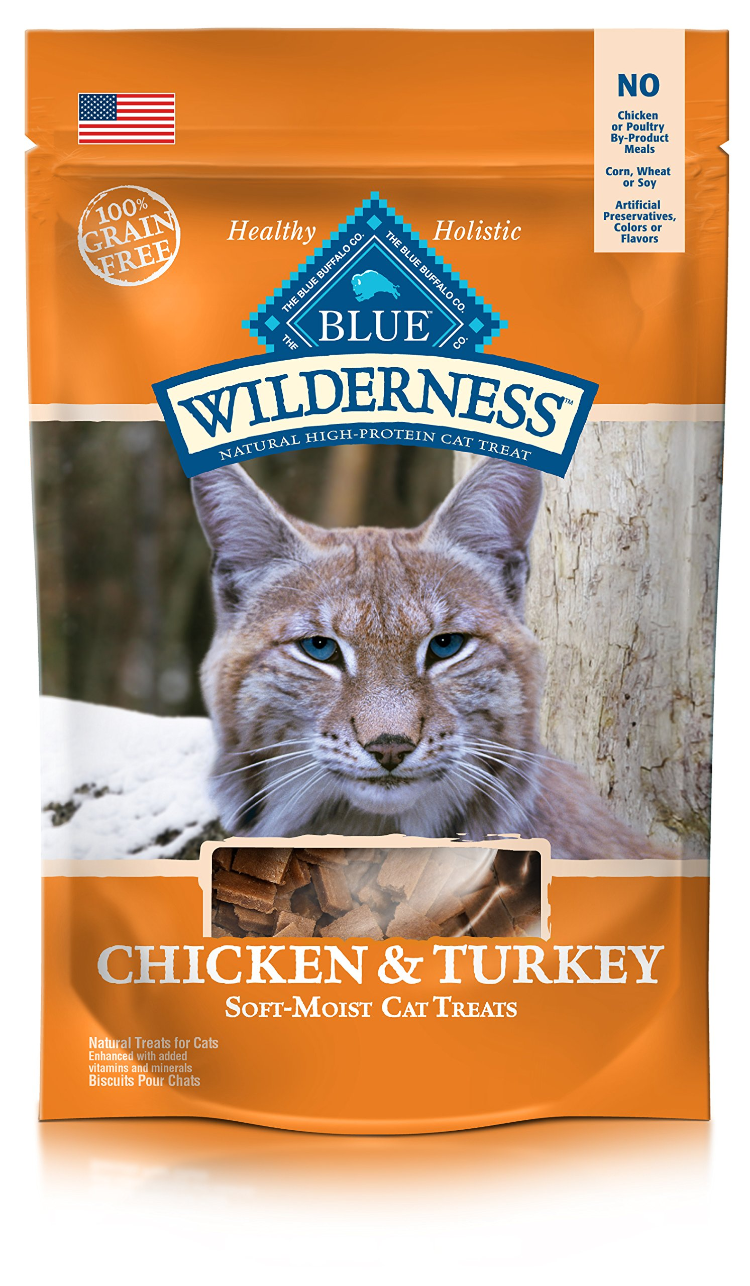 BLUE Wilderness Grain-Free Soft-Moist Cat Treats Chicken and Turkey 2 oz