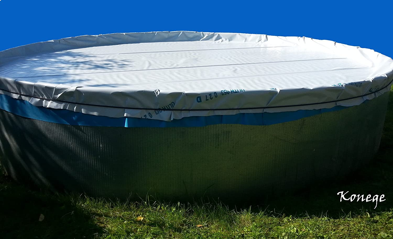 Poolplane, Poolfolie, Winterabdeckung für Pool bis max. Ø4,60m, inkl. Gummiseil Konege