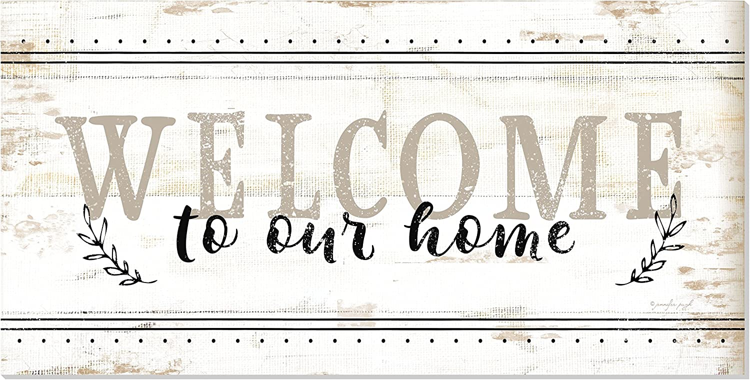 Welcome to Our Home Rustic Farmhouse Style Wood Wall Sign 9x18