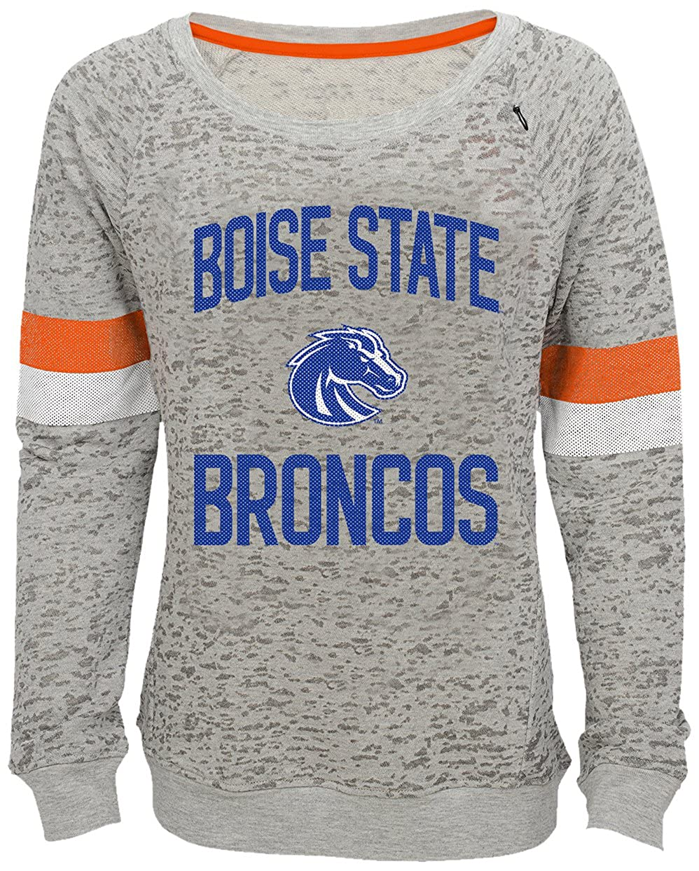 NCAA by Outerstuff NCAA Boise State Broncos Youth Girls My City Boat Neck Pullover 7-8 Heather Grey Youth Small