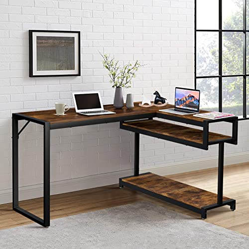amzdeal L-Shaped Computer Desk
