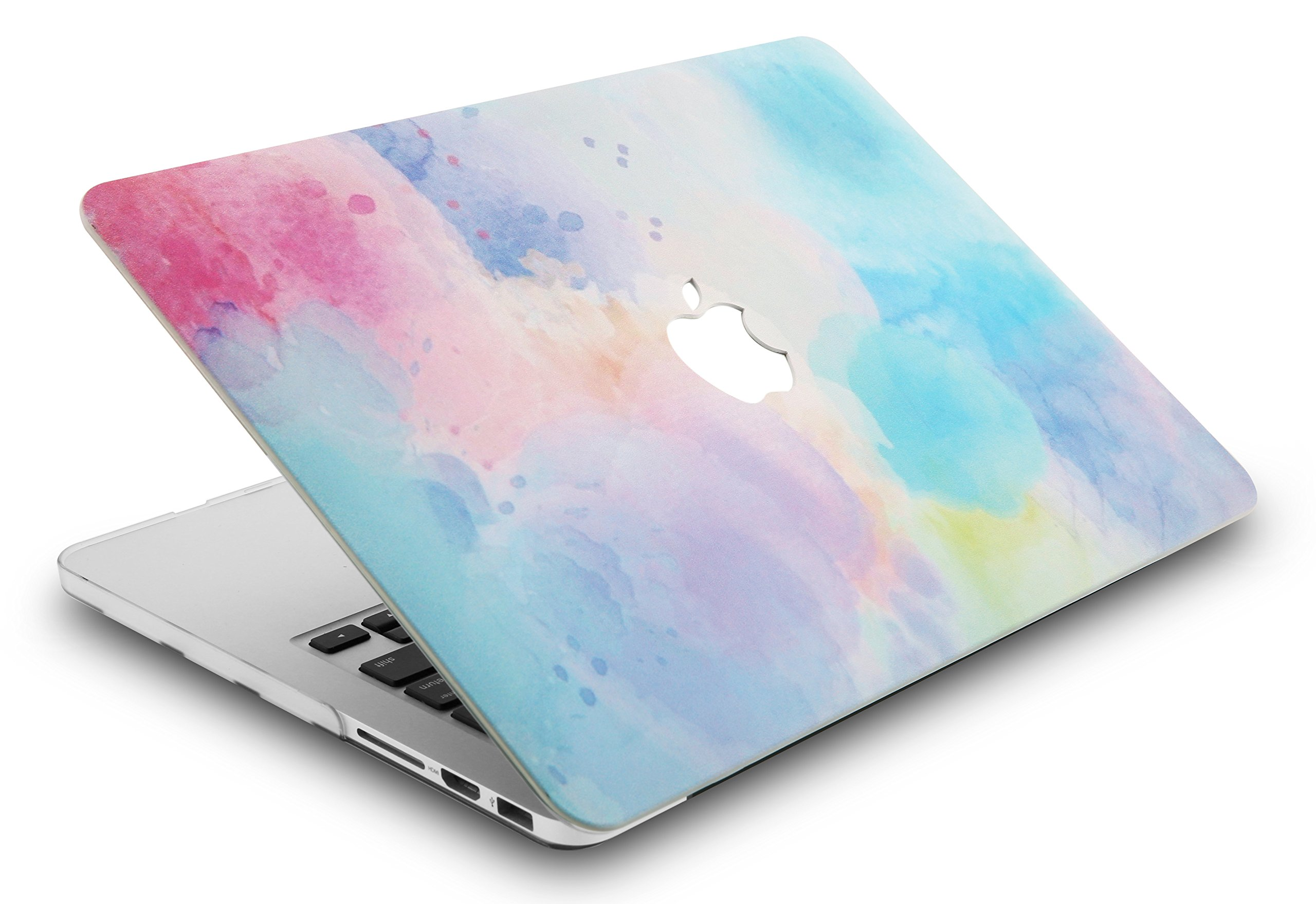 KEC Laptop Case for MacBook Air 13'' w/ Keyboard Cover + Sleeve Plastic Hard Shell Case A1466/A1369  3 in Bundle (Rainbow Mist 2)  by KEC (Image #3)
