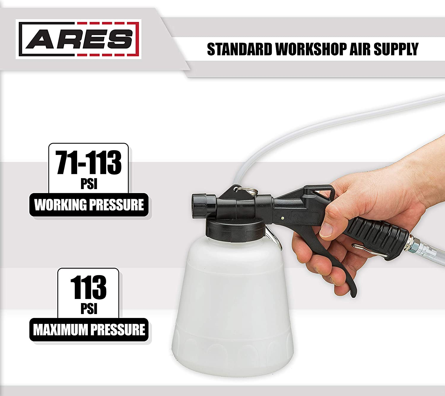 Ares 70923 1l Vacuum Brake Fluid Bleeder Hanging Honda Civic Cooling System Also 99 Diagram Hook And Locking Trigger Allows For Hands Free Operation Automotive