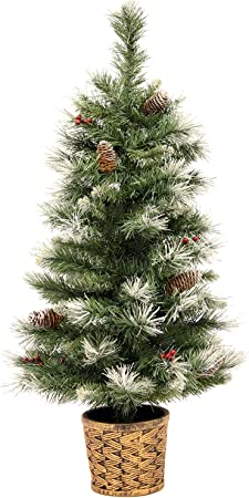 Albero Di Natale 3 Metri.Werchristmas Scandinavo Blu Abete Albero Di Natale Con Pigne E Bacche In Un Vaso Di Resina Oro 3 Metri Verde Amazon It Casa E Cucina