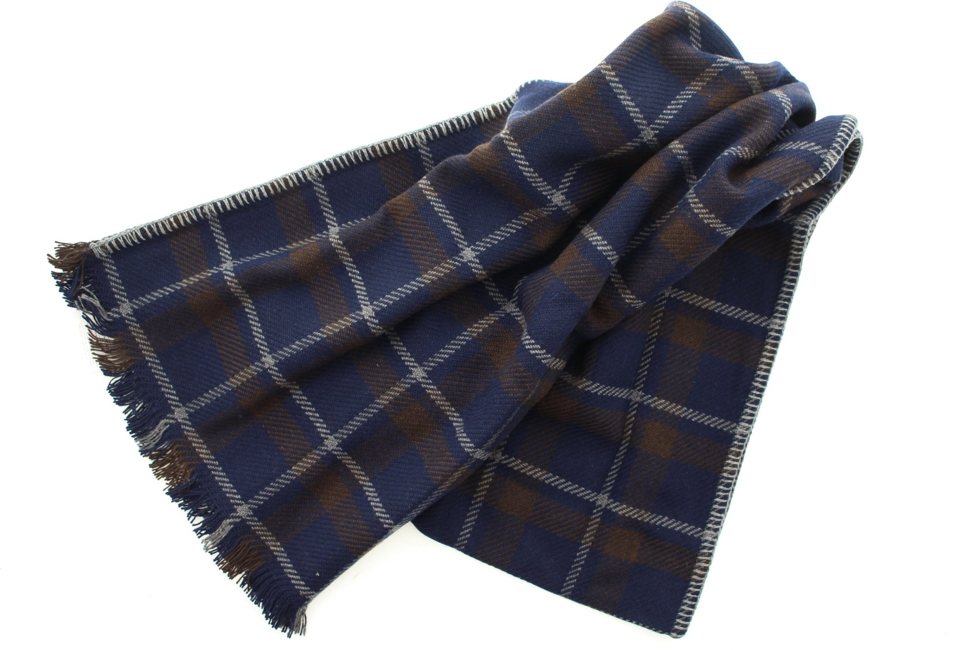Coach 83145 Men's Wool Cashmere Tattersall Plaid Winter Scarf by Coach