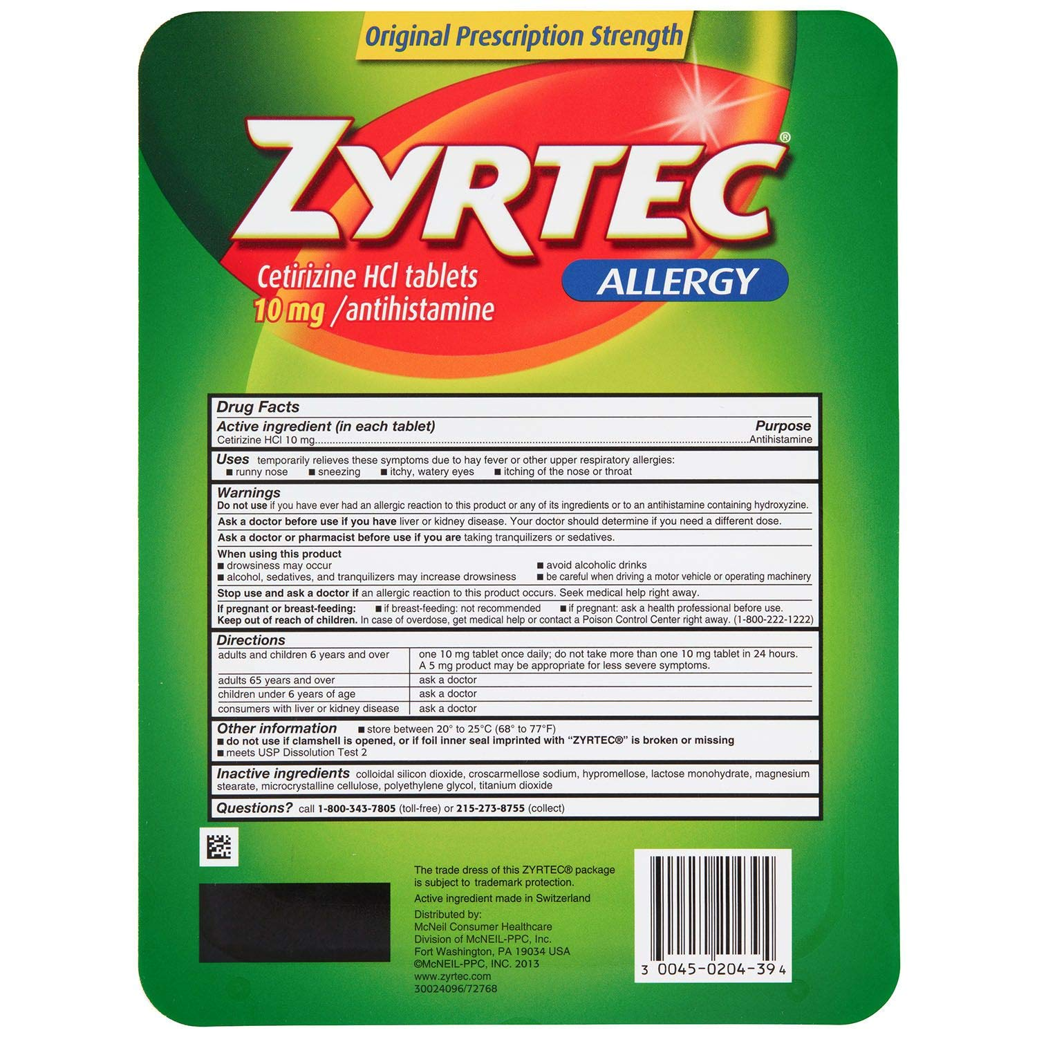 zyrtec compare prices and deals