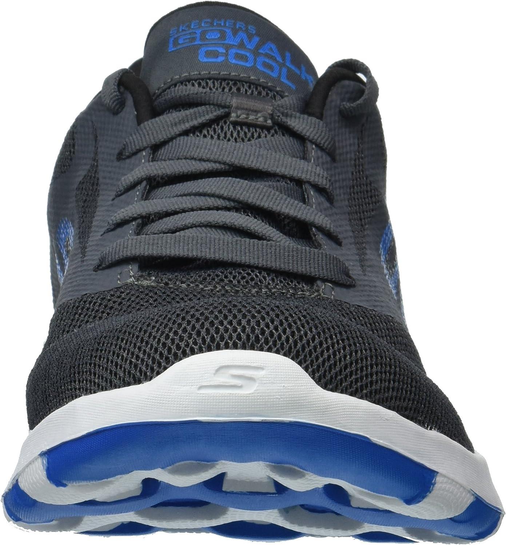 Skechers Men's Go Walk Cool-54651 Sneaker Charcoal/Blue