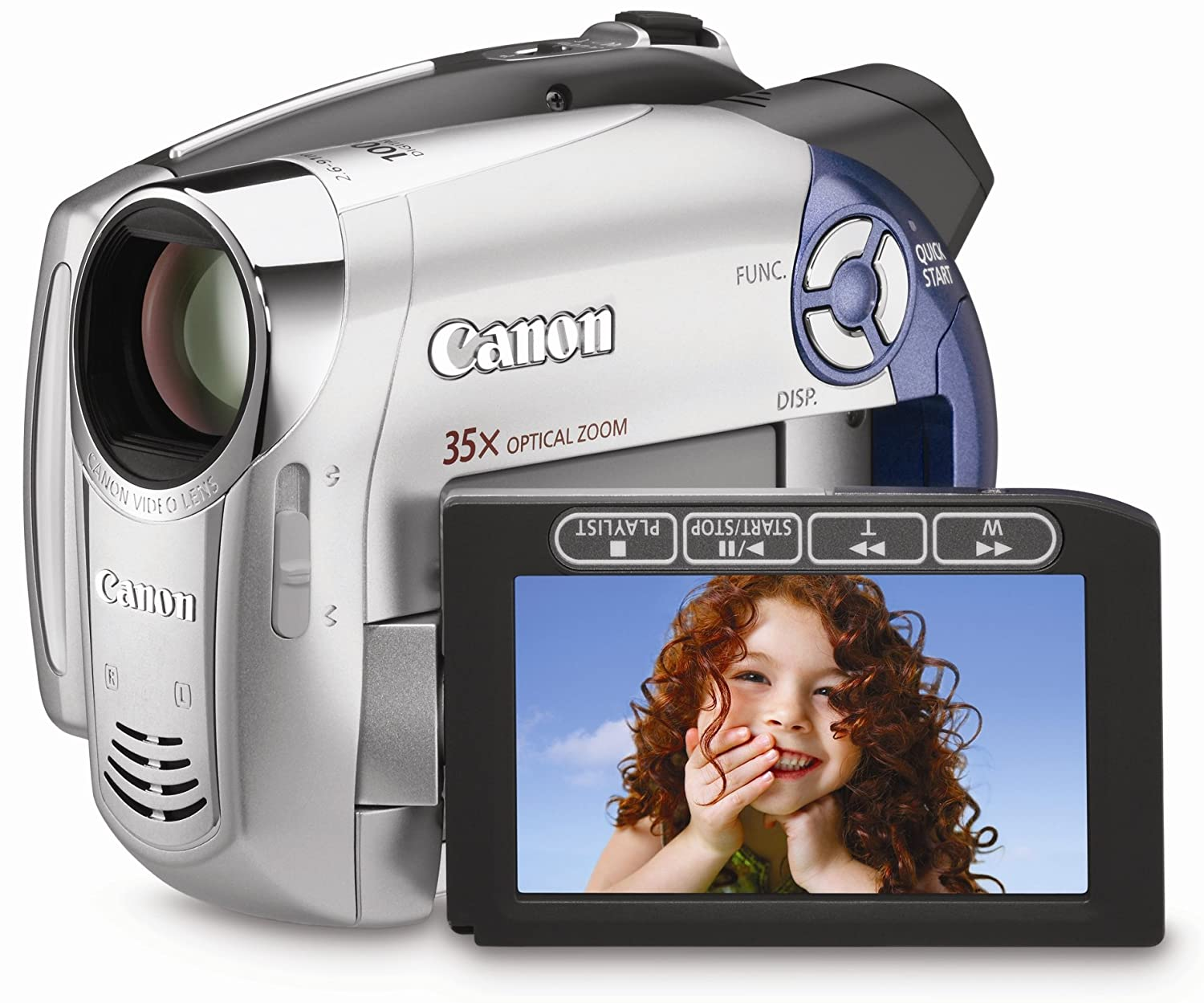 Amazon.com : Canon DC210 DVD Camcorder with 35x Optical Zoom (Discontinued  by Manufacturer) : Camera & Photo
