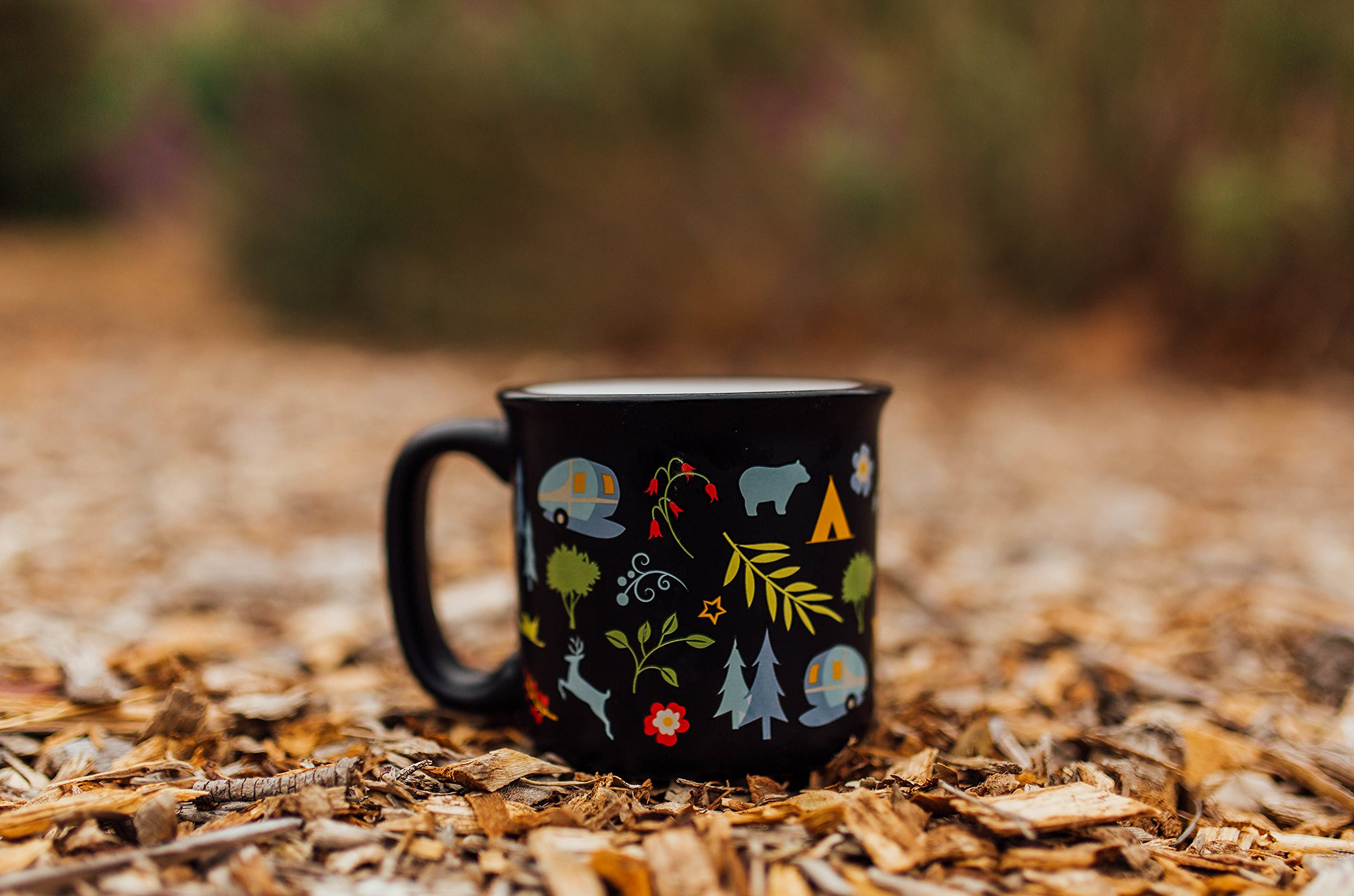 Camp Casual CC-004BLK Black Into The Woods Mug