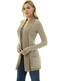 fdb86d253f3 PattyBoutik Women s Cable Knit Open Front Cardigan at Amazon Women s ...