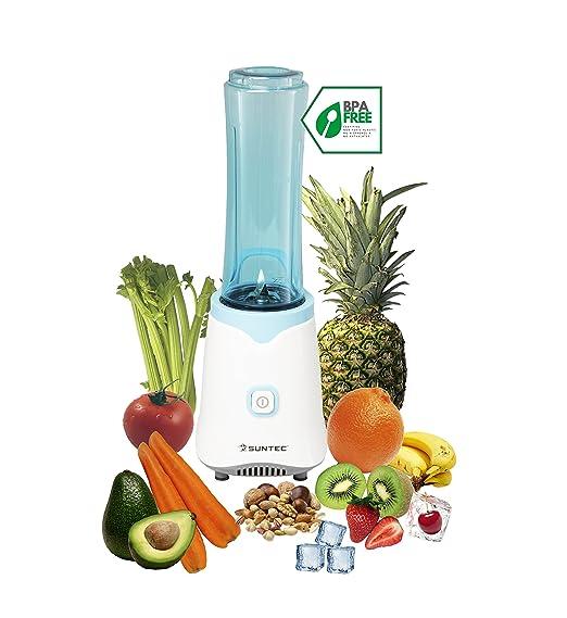 amazon de suntec smoothie maker smo 9943 inkl 2 sportflaschen a 600 ml auch fur eis geeignet neu max 350 watt