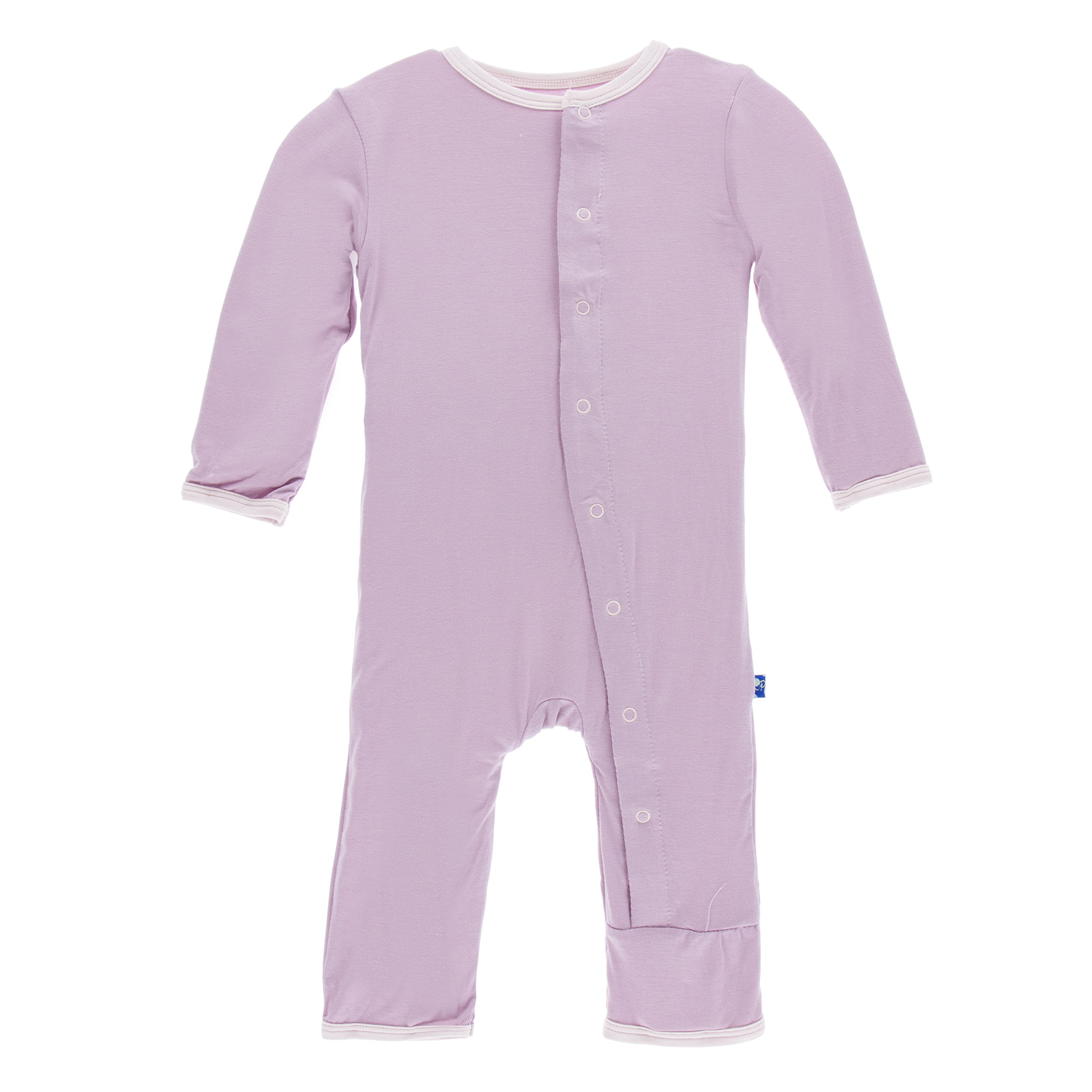 Kickee Pants Big Girls' Fitted Applique Coverall in Sweet Pea Poppies, 4T