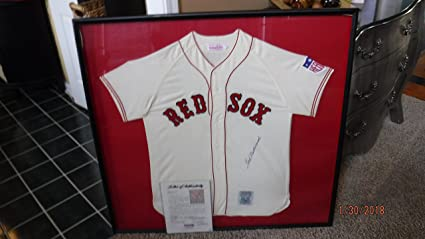 innovative design b3878 f3696 TED WILLIAMS Signed/Framed (1942 Mitchell & Ness) Flannel ...