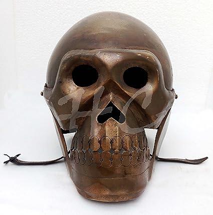 Máscara de esqueleto Armour casco vikingo medieval espectáculo romano caballero cascos