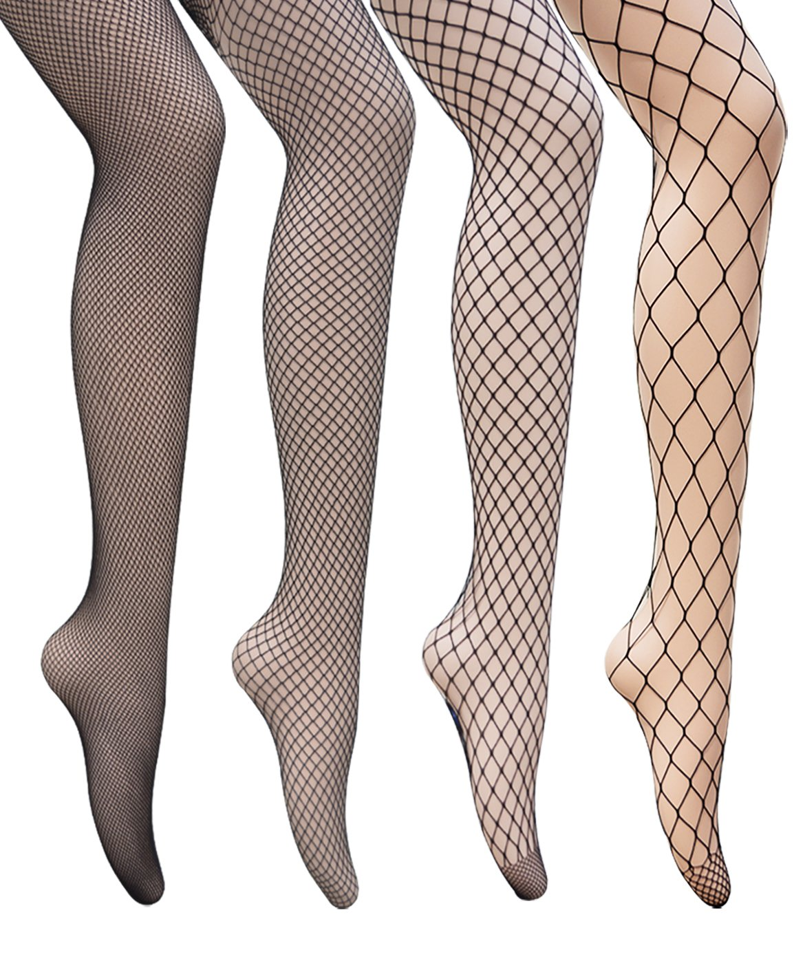 dreshowフィッシュネットストッキングパンティーストッキングソックスCrossタイツメッシュタイツコスチュームダンスSeamedの女性パック1 / 4 B06XKS146W 4 Pair Pantyhoses: 4 Style Fishnet 4 Pair Pantyhoses: 4 Style Fishnet