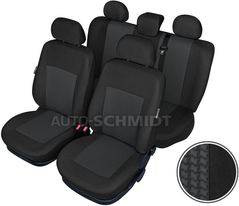 ZentimeX Z737675 Sitzbez/üge Vordersitze R/ückbank Stoff Airbag-Kompatibel