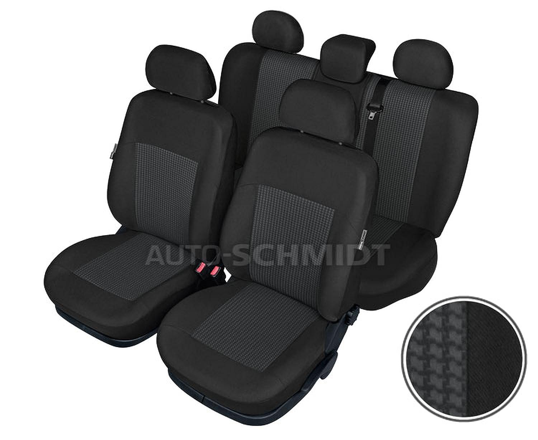 ZentimeX Z737654 Sitzbez/üge Vordersitze R/ückbank Stoff Airbag-Kompatibel