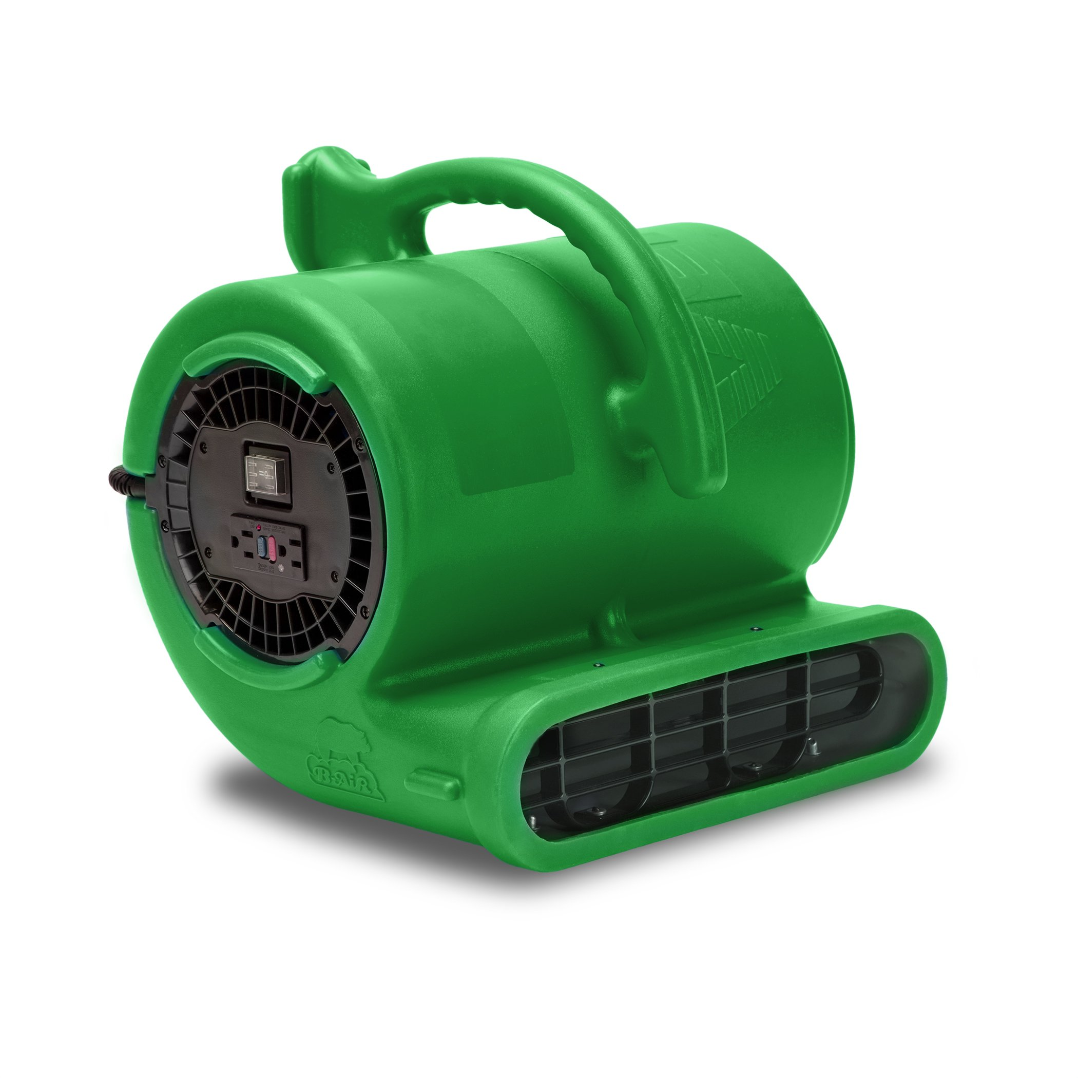 B-Air VENT VP-33 1/3 HP 2530 CFM Air Mover Carpet Dryer Floor Fan for Plumbing Janitorial Water Damage Restoration Green