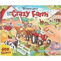Depesche 10745 kleurboek met stickers, Create your Crazy Farm, ca. 30 x 25 x 0,5 cm