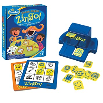 Thinkfun Zingo Bilingue Ingles Espanol Amazon Es Juguetes Y