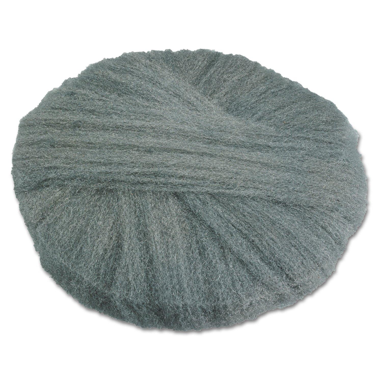 Global Material Technologies GMT 120172 17'' Diameter, Grade 2 Radial Steel Wool Floor Pad