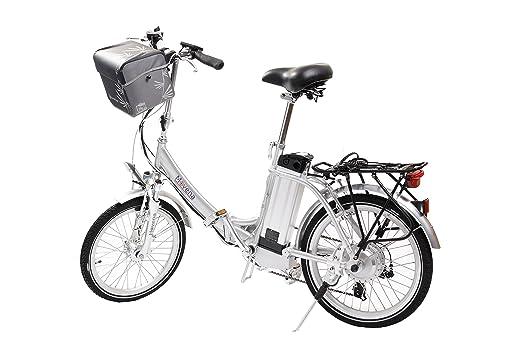 Pedelec Movena afh20, 2 x Certificado TÜV y bicicleta eléctrica Plata/Plata - 36 V 15 Ah Batería, 20 pulgadas Pedelec de bicicleta plegable, color plata 36 ...