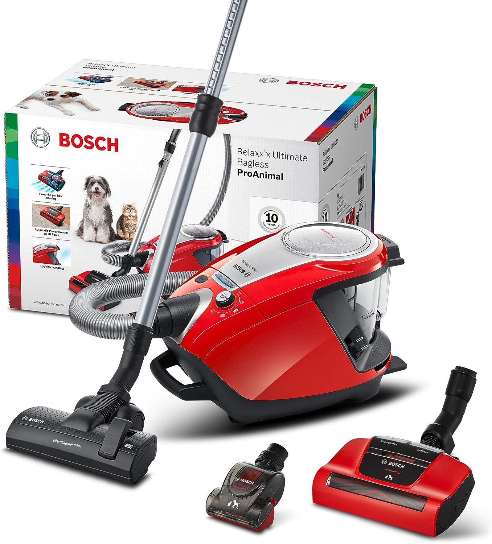 Bosch Hausgeräte ProAnimal Aspirador sin Bolsa, 700 W, plástico, Rojo: Amazon.es: Hogar